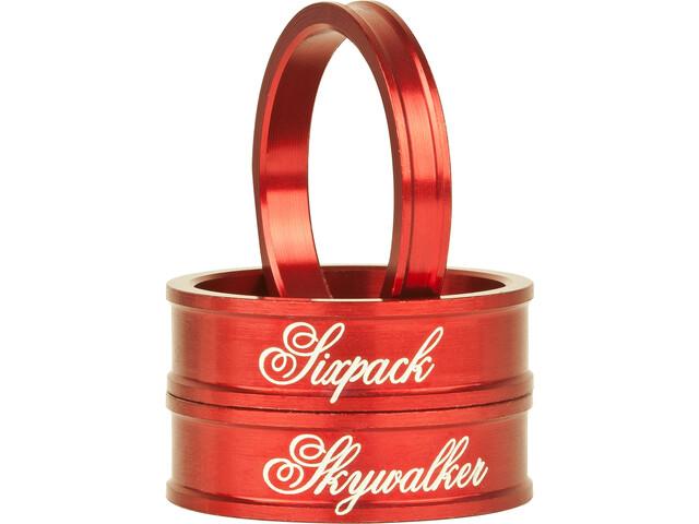 "Sixpack Skywalker Spacer 1 1/8"", red"